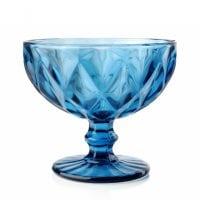 "Комплект синіх скляних креманок ""Elise"" 300 мл. 6 шт. 30645"