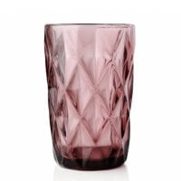 "Комплект розовых стеклянных стаканов ""Elise"" 300 мл. 6 шт. 30649"