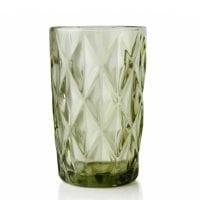 "Комплект зеленых стеклянных стаканов ""Elise"" 300 мл. 6 шт. 30650"