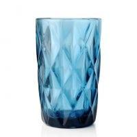 """Комплект синих стеклянных стаканов """"Elise"""" 300 мл. 6 шт. 30651"""