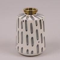 Ваза керамическая бело-серая 41164