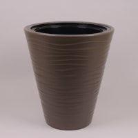 Горшок пластмассовый с вкладом Sahara коричневый 30см.