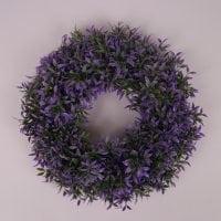 Вінок декоративний фіолетовий D-30 см. 71693