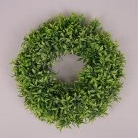 Вінок декоративний зелений D-30 см. 71694