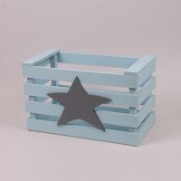 Детский ящик для игрушек голубой 29557