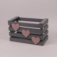 Детский ящик для игрушек серый 29558
