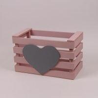 Детский ящик для игрушек пастельно розовый 29561
