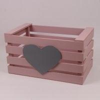 Детский ящик для игрушек пастельно розовый 29564