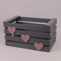 Детский ящик для игрушек серый 29565
