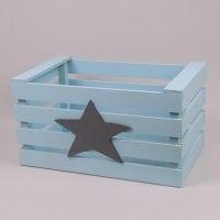 Детский ящик для игрушек голубой 29566