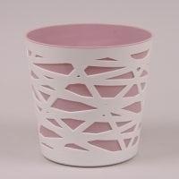 Горщик пластмасовий Беті рожевий 13.5см.
