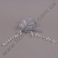 Бант для упаковки серебряный 25541