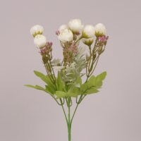 Букетик Камелий белый 30 см. 71739