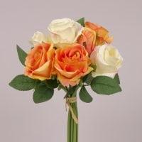 Букет Троянд кремово-оранжевий 71783