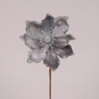 Цветок новогодний Магнолия серый 75546