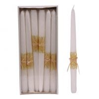 Свічка конусна Велюр Натура 30 см. біла 27623