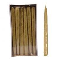 Свічка конусна Велюр Стрічка 25 см. золота 27626