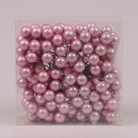 Шарики стеклянные 2 см. розовые (48 пучков-144 шарика) 40211
