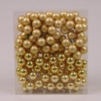 Шарики стеклянные 2,5 см. золотые (12 пучков-144 шарика) 40214