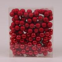 Шарики стеклянные 2,5 см. красные (12 пучков-144 шарика) 40216