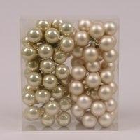 Шарики стеклянные 3 см. золото-шампань (6 пучков-72 шарика) 40226