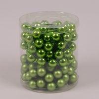 Кульки скляні 2,5 см. зелені (12 пучків-144 кульки) 40246