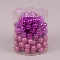 Кульки скляні 2,5 см. рожеві (12 пучків-144 кульки) 40247