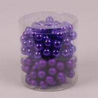 Кульки скляні 2,5 см. фіолетові (12 пучків-144 кульки) 40248