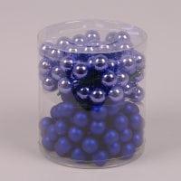 Кульки скляні 2,5 см. блакитні (12 пучків-144 кульки) 40249