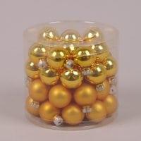 Кульки скляні 3 см. оранжеві (45 шт.) 40231