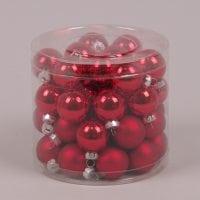 Шарики стеклянные 3 см. красные (45 шт.) 40233
