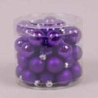 Кульки скляні 3 см. фіолетові (45 шт.) 40234
