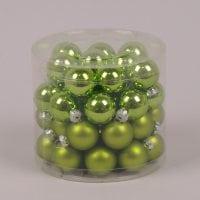 Кульки скляні 3 см. зелені (45 шт.) 40235