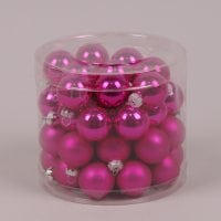 Кульки скляні 3 см. фуксія (45 шт.) 40236
