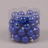 Кульки скляні 3 см. блакитні (45 шт.) 40237
