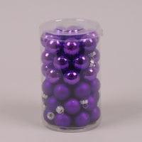 Кульки скляні 2,5 см. фіолетові (48 шт.) 40241