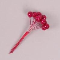 Пучок червоних перлинок D-1 см. (12 пучків в упаковці) 40264