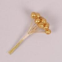 Пучок золотых жемчужинок D-1 см. (12 пучков в упаковке) 40266