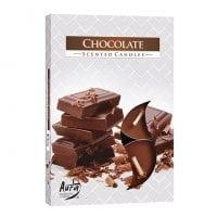 Свеча чайная таблетка ароматическая Bispol Шоколад D-3,9 см. 6 шт. 27337