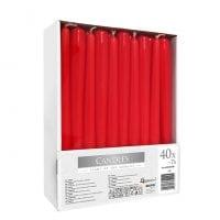 Свічка конусна Bispol 24,5 см. червона 27361