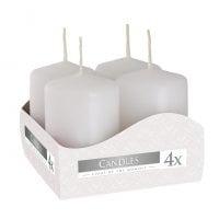 Комплект білих свічок Bispol Циліндр 4х6 см. (4 шт.) 27364