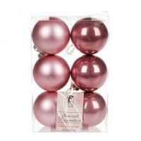 Набор пластиковых новогодних шаров 6 шт. D-6 см. 11643