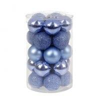 Набор пластиковых новогодних шаров 25 шт. D-3 см. 11648