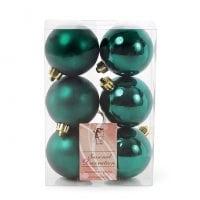Набор пластиковых новогодних шаров 6 шт. D-6 см. 11676