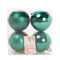 Набор пластиковых новогодних шаров 4 шт. D-8 см. 11678