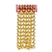 Бусы пластиковые золотые 12 мм. х 2,7 м. 11701