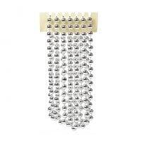 Бусы пластиковые серебряные 10 мм. х 2,7 м. 11703