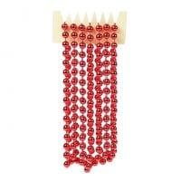 Бусы пластиковые красные 10 мм. х 2,7 м. 11708