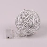 Шарик декоративный металлический с LED-подсветкой 12 см. 24360