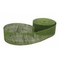 Лента из мешковины зеленая 6 см. х 20 м . 5052